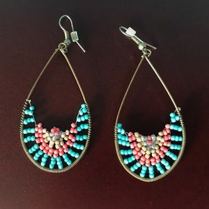colorful costume jewelry earrings